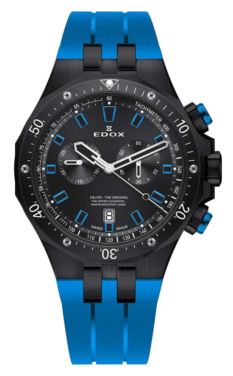 Часы Edox Delfin Chronograph 10109 37NBUCA NIBU