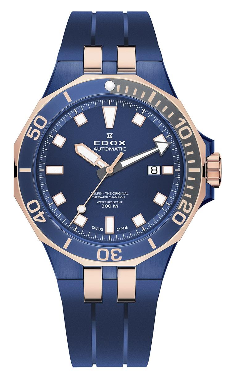 Часы Edox Delfin Diver Automatic Date 80110 357BURCA BUIR