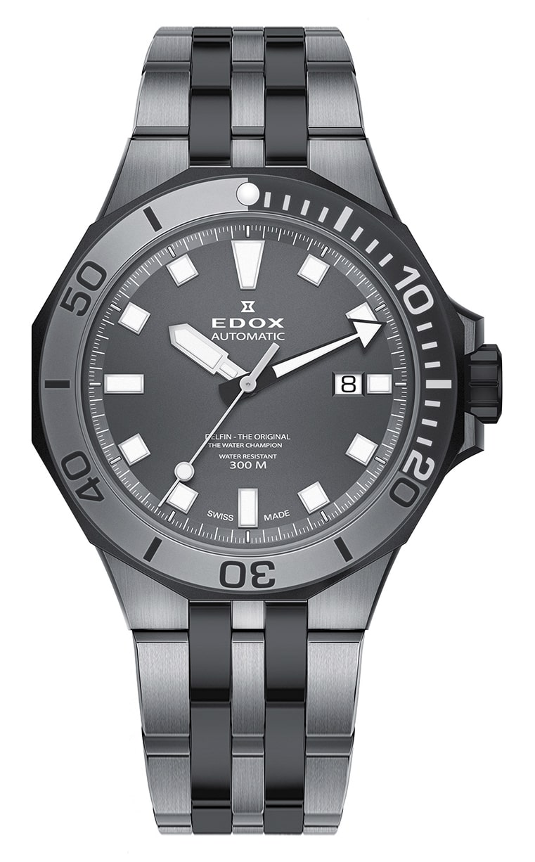 Часы Edox Delfin Diver Automatic Date 80110 357GNM GIN
