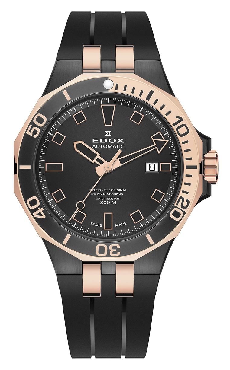 Часы Edox Delfin Diver Automatic Date 80110 357NRCA NIR