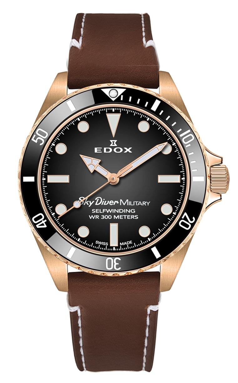 Часы Edox SkyDiver Military L.E. 80115 BRZN NDR