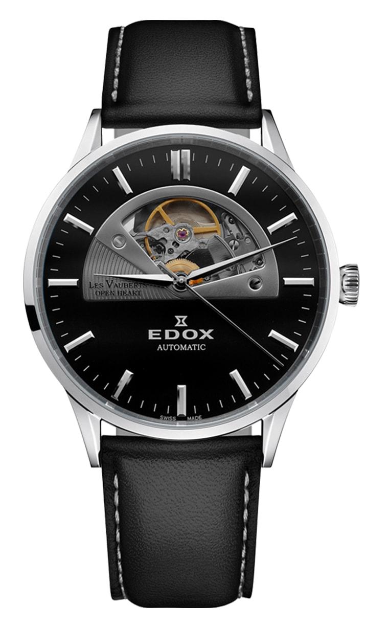 Часы Edox Les Vauberts Open Heart Automatic 85014 3C1 NIN