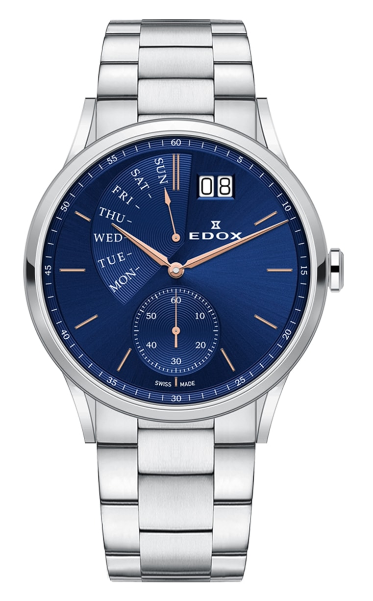 Часы Edox Les Vauberts Day Retrograd 34500 3M BUIR