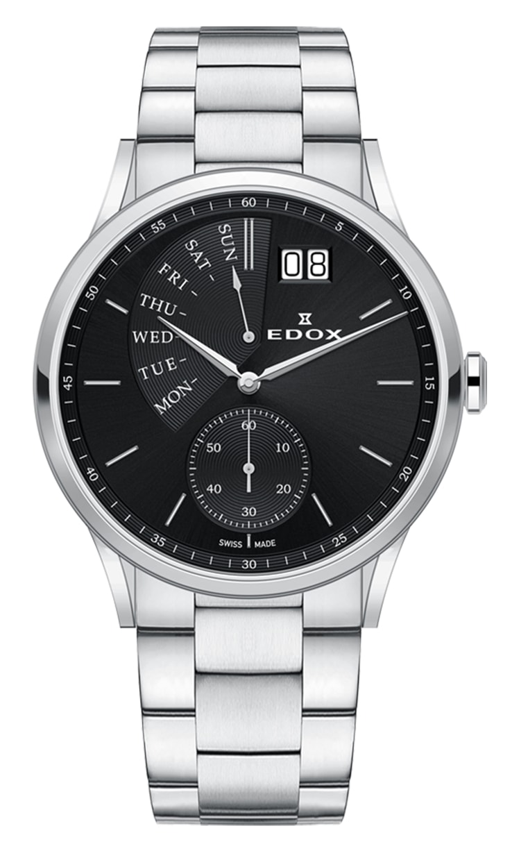 Часы Edox Les Vauberts Day Retrograd 34500 3M NIN