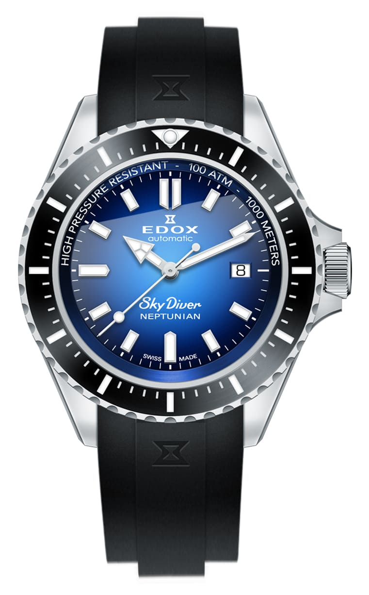 Часы Edox SKYDIVER Neptunian 80120 3NCA BUIDN