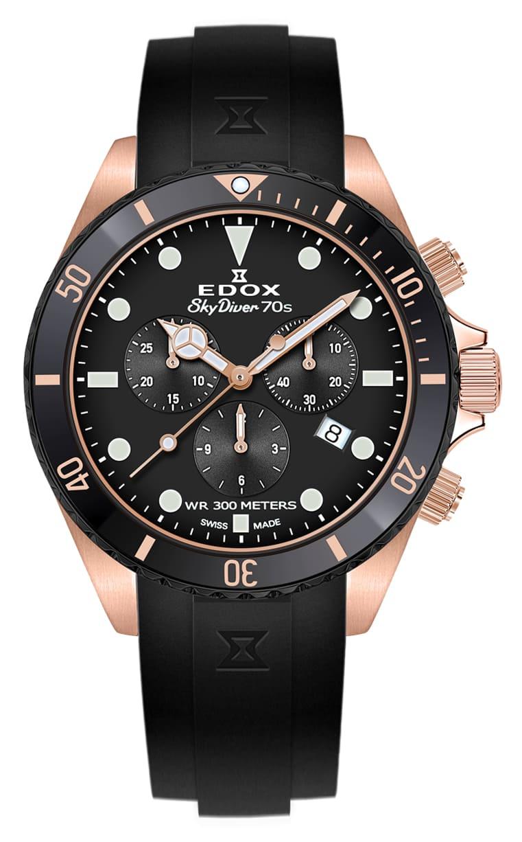 Часы Edox SKYDIVER 70s Chronograph 10238 37RNNCA NI