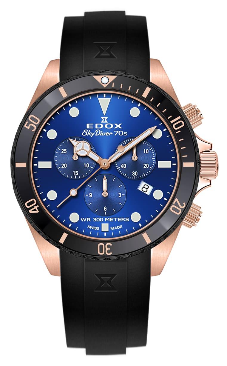 Часы Edox SKYDIVER 70s Chronograph 10238 37RNNCA BUI