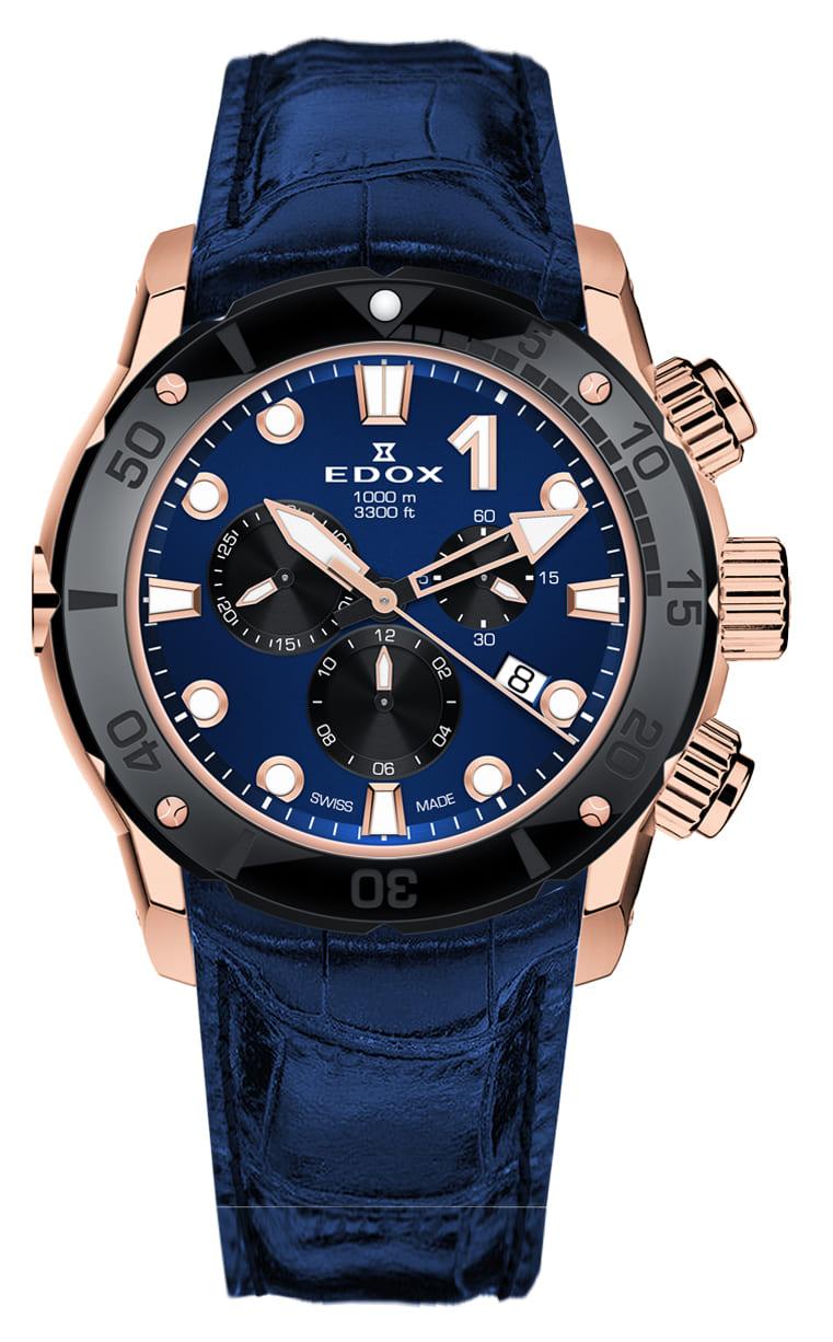 Часы Edox CO-1 Chronograph 10242 TINR BUIRN