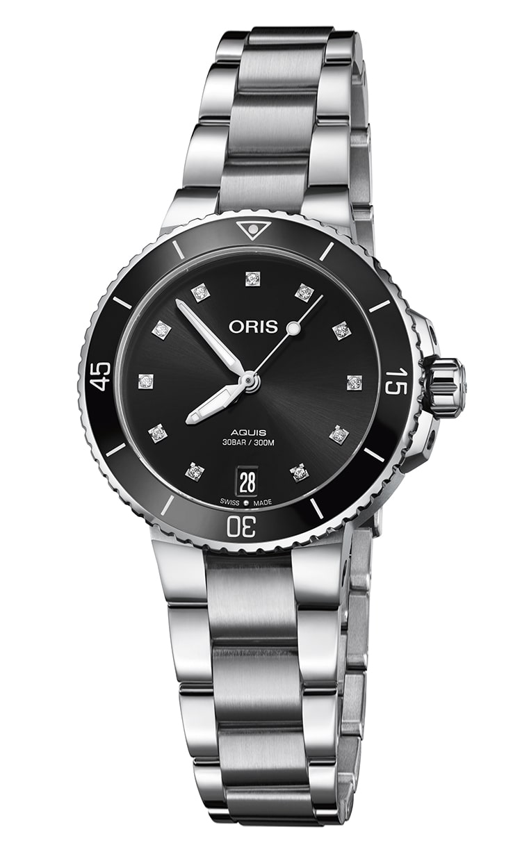 Часы Oris Diving Aquis Date Diamonds 733.7731.4194 MB 8.18.05P