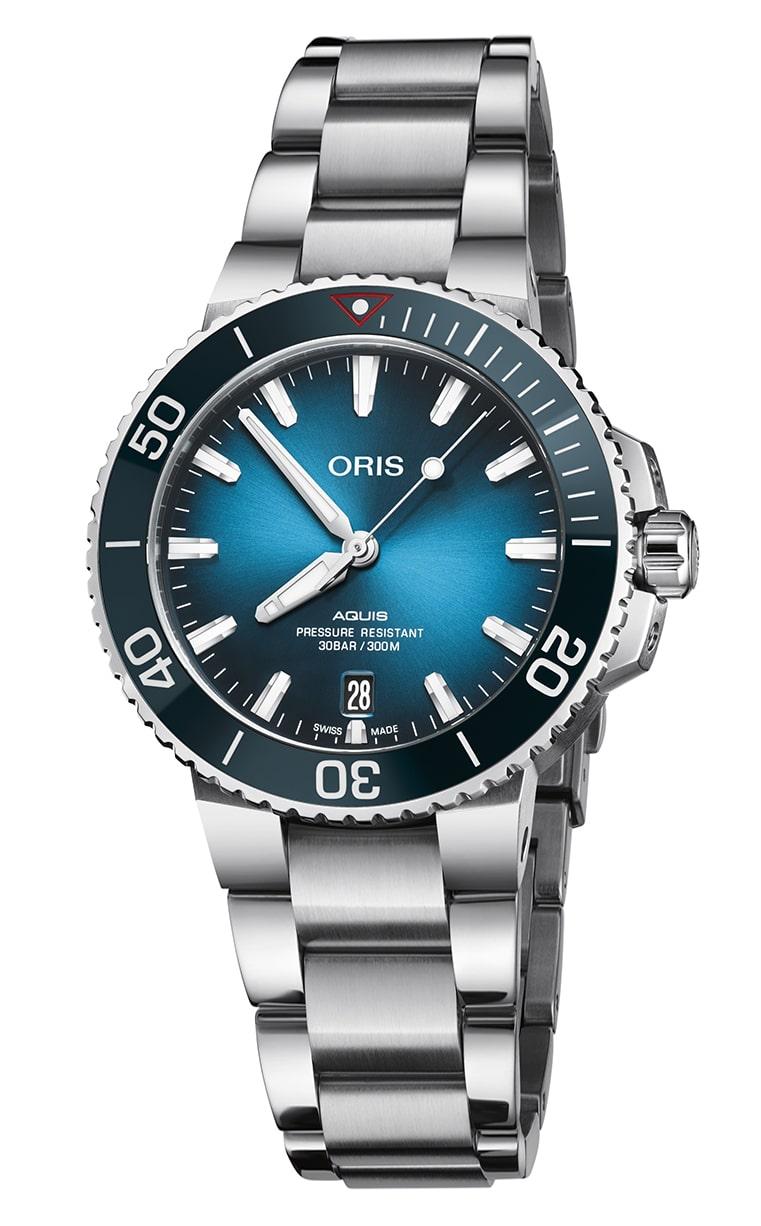 Часы лимитированной серии Oris Diving Aquis Clean Ocean L.E. 733.7732.4185 Set