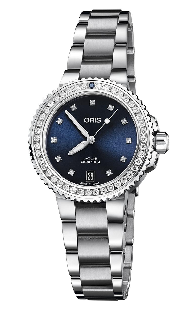 Часы Oris Diving Aquis Date Diamonds 733.7731.4995 RS 8.18.05Р