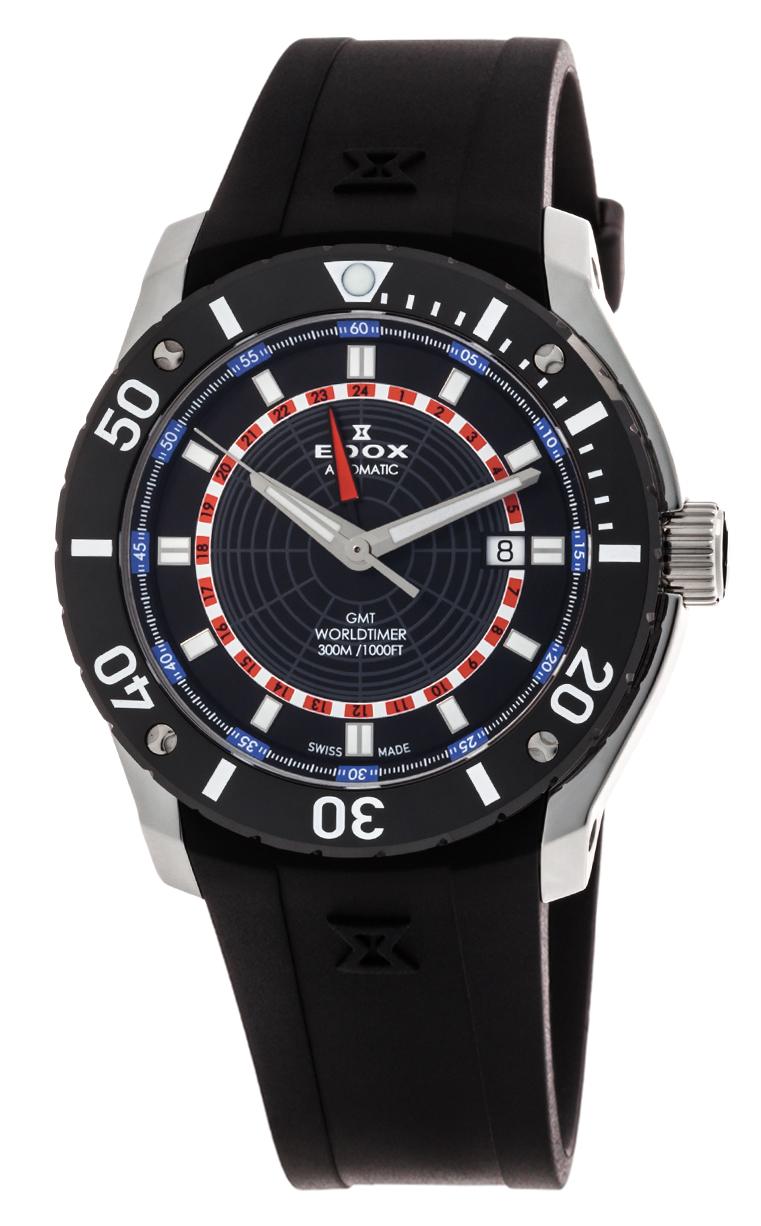 Часы Edox Chronoffshore-1 GMT Worldtimer 93005 3 NBUR