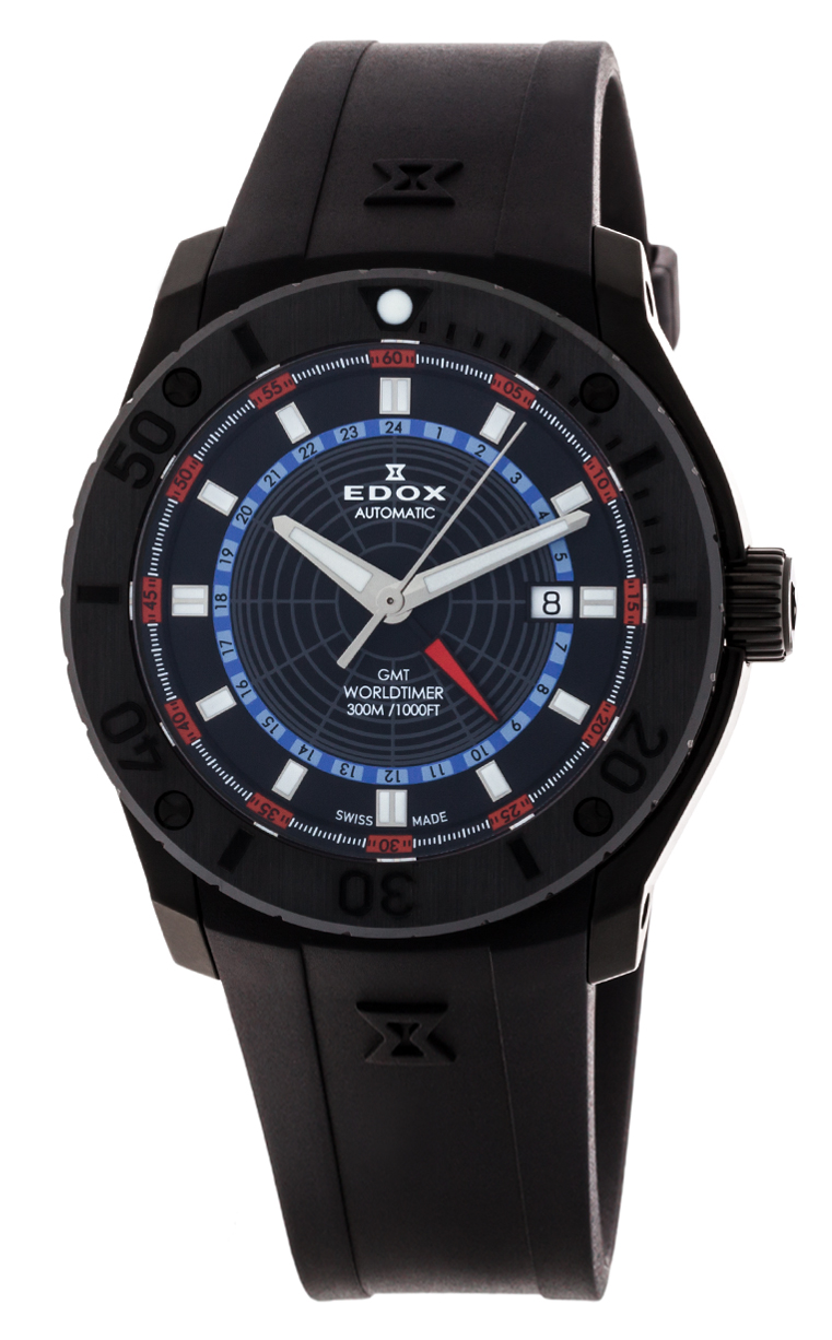 Часы Edox Chronoffshore-1 GMT Worldtimer 93005 3 NOBU