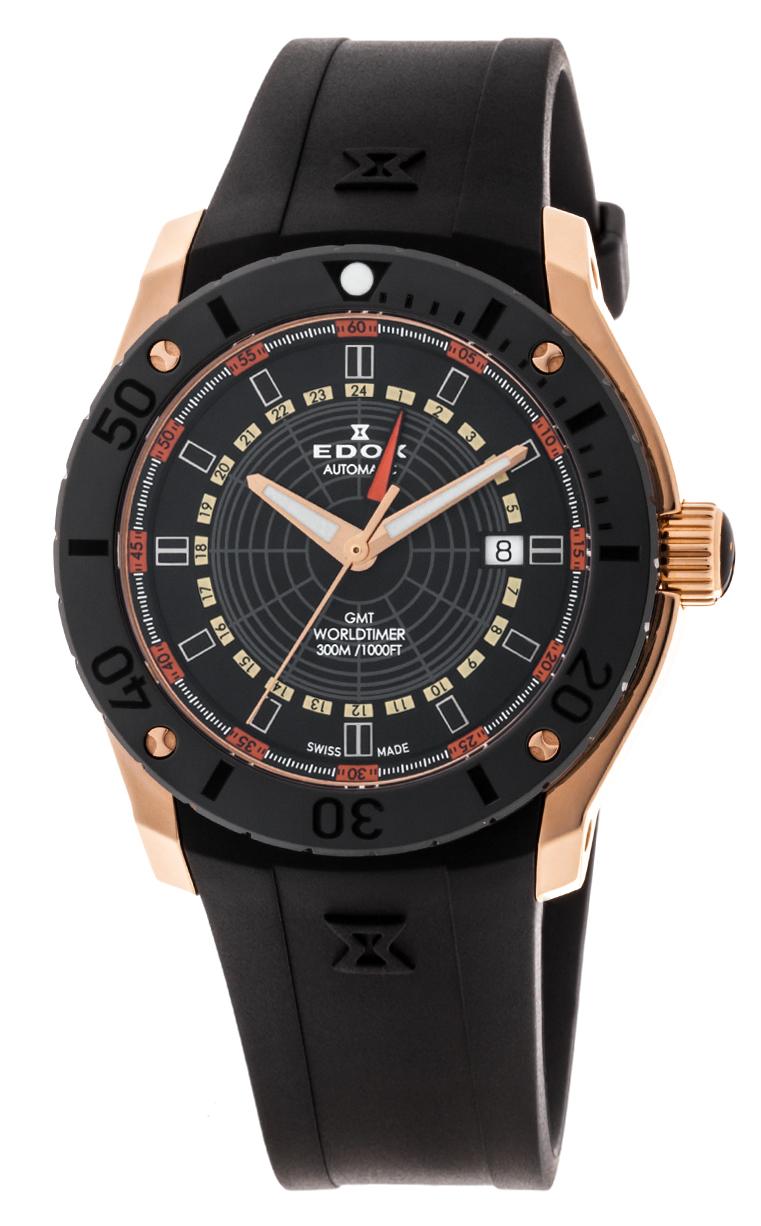 Часы Edox Chronoffshore-1 GMT Worldtimer 93005 37R NOJ