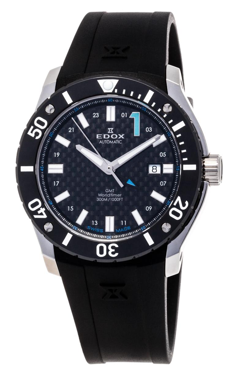Часы Edox Chronoffshore-1 GMT Worldtimer 93005 3 NBU
