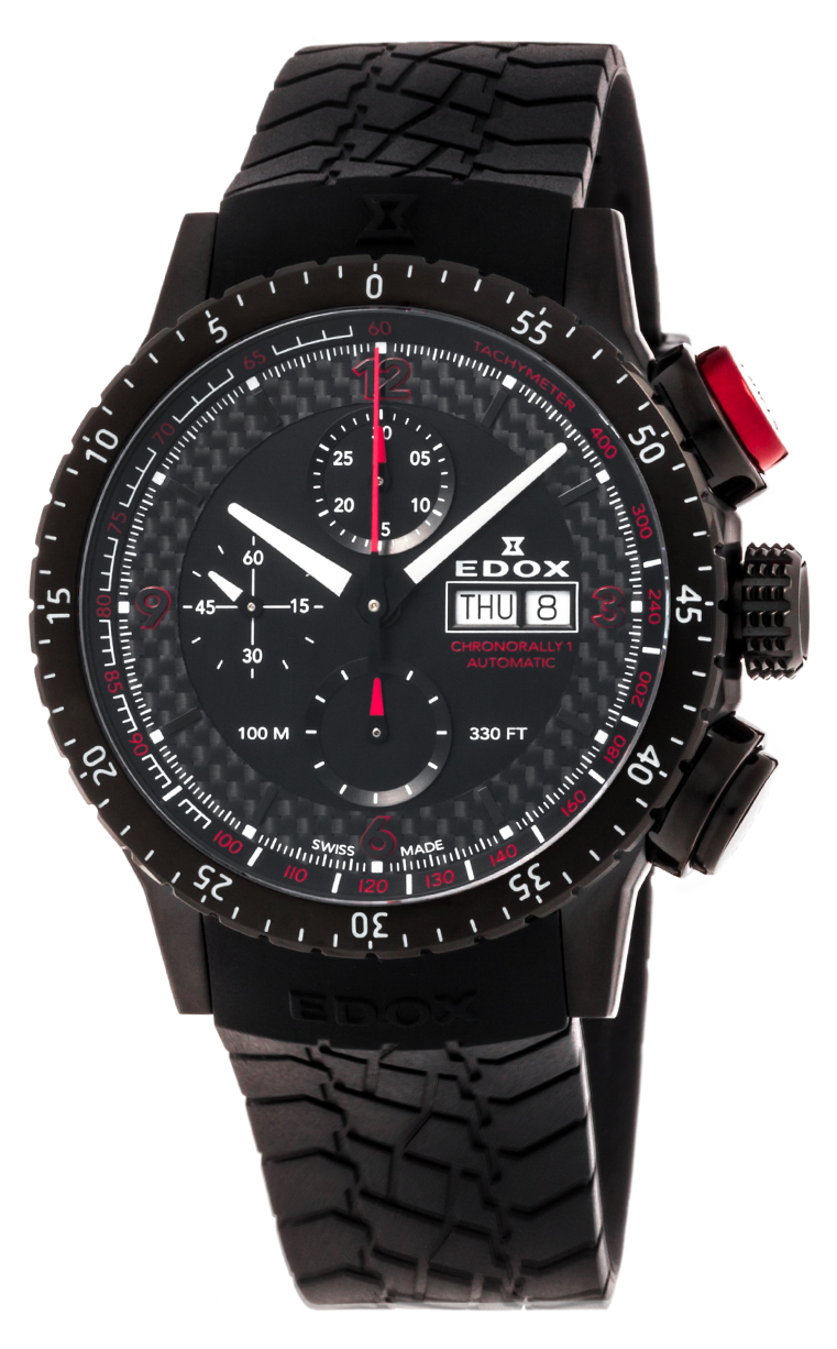 Часы Edox Chronorally1 Chronograph Automatic 01118 37NR NRO