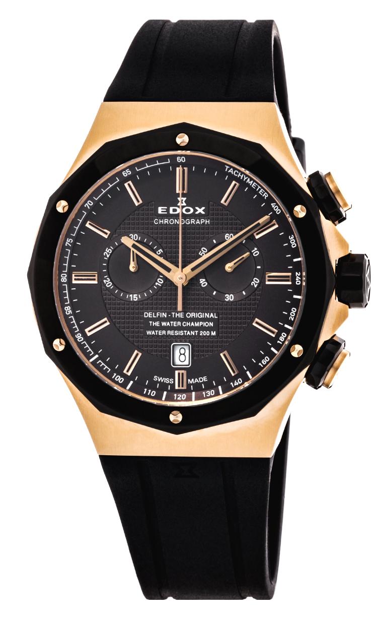Часы Edox Delfin Chronograph 10107 37RNCA GIR