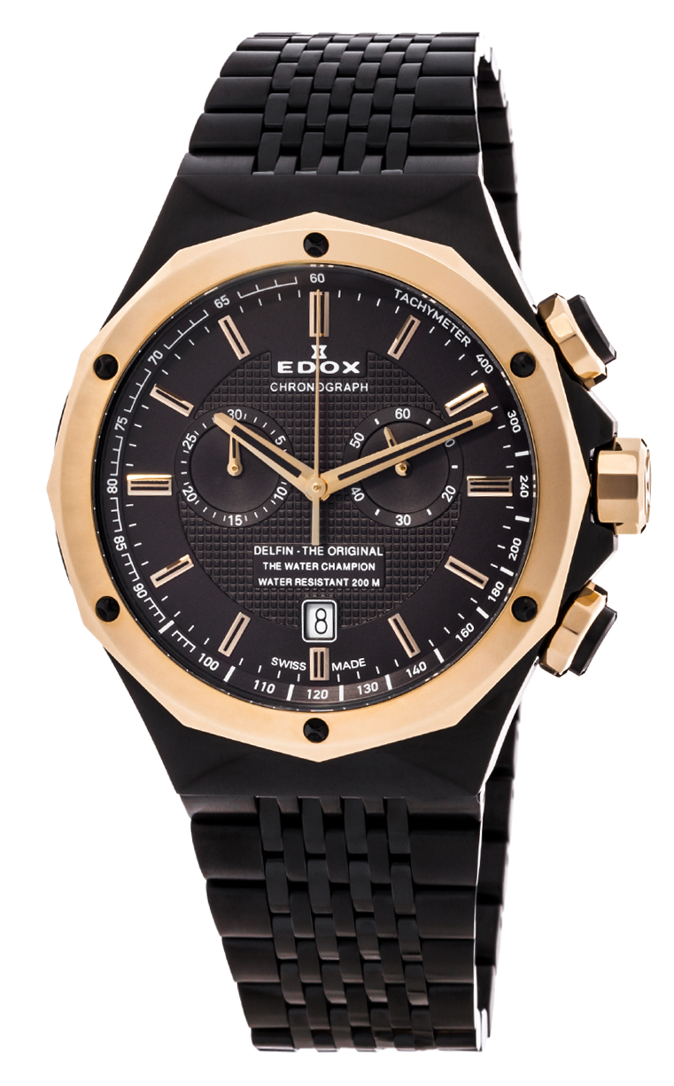 Часы Edox Delfin Chronograph 10108 37GR GIR