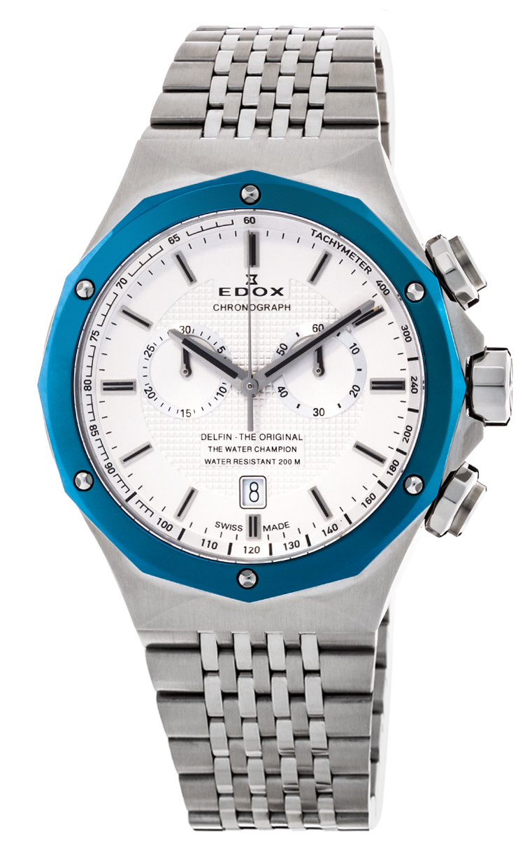Часы Edox Delfin Chronograph 10108 3BU AIN