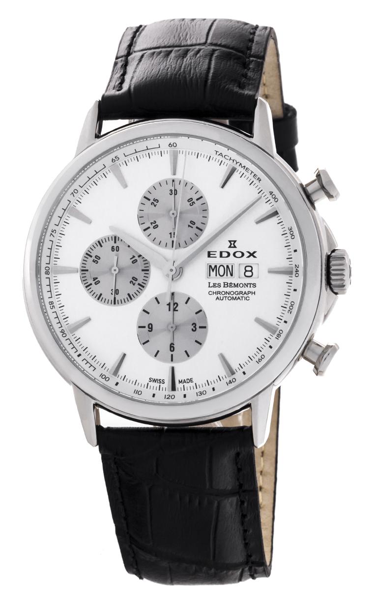 Часы Edox Les Bemonts Chronograph Automatic 01120 3 AIN
