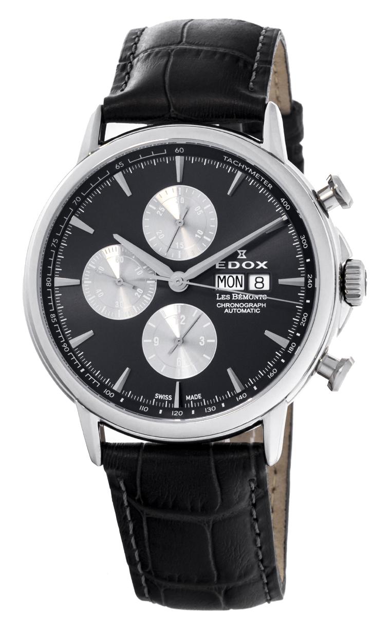 Часы Edox Les Bemonts Chronograph Automatic 01120 3 GIN