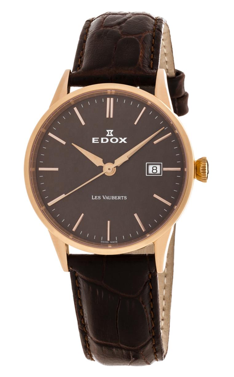 Часы Edox Les Vauberts 3-Hands Date 70162 37R BRIR