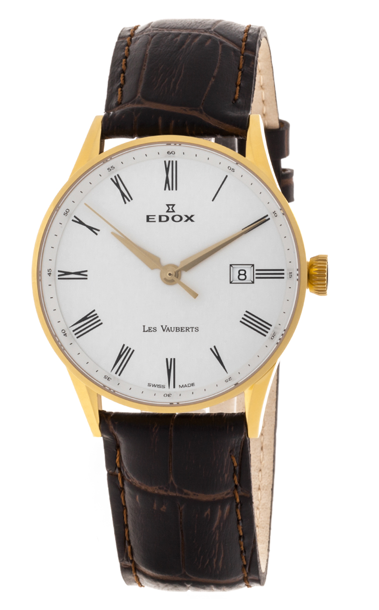 Часы Edox Les Vauberts 3-Hands Date 70172 37JA AR