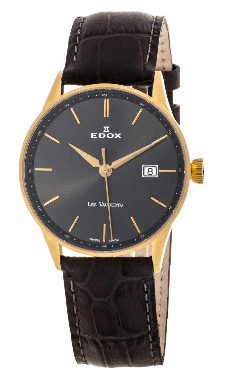 Часы Edox Les Vauberts 3-Hands Date 70172 37JG GID