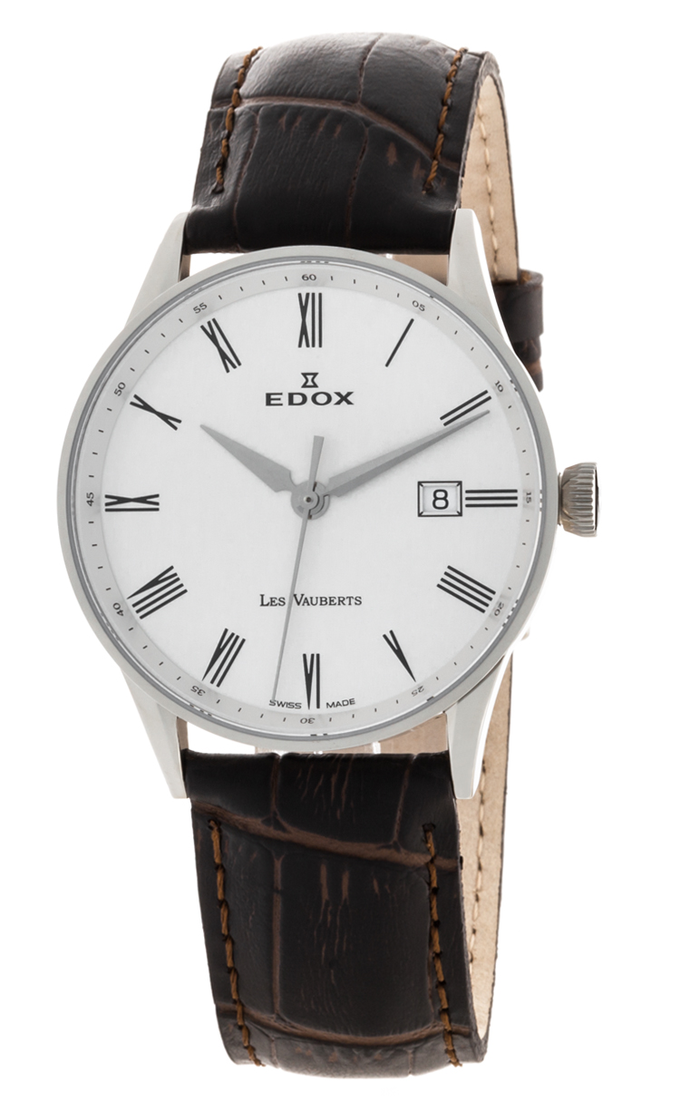 Часы Edox Les Vauberts 3-Hands Date 70172 3A AR