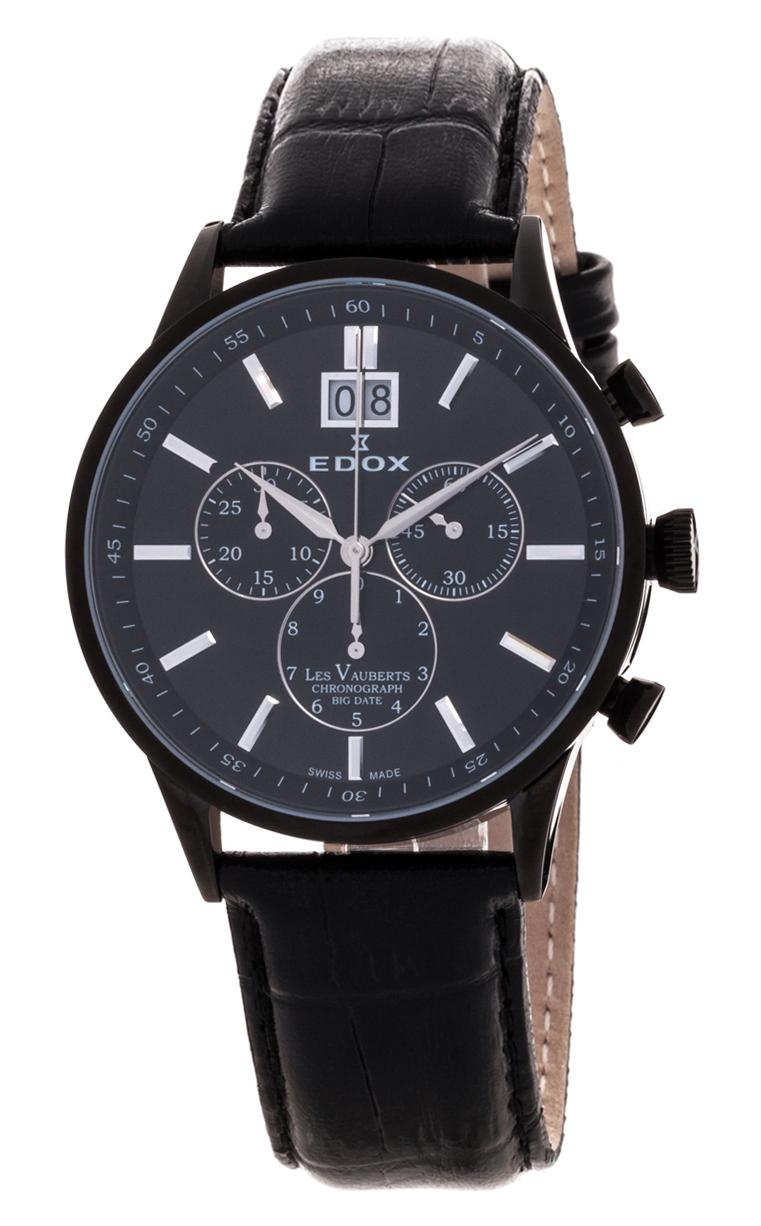 Часы Edox Les Vauberts Chronograph Big Date 10010 37N NIN