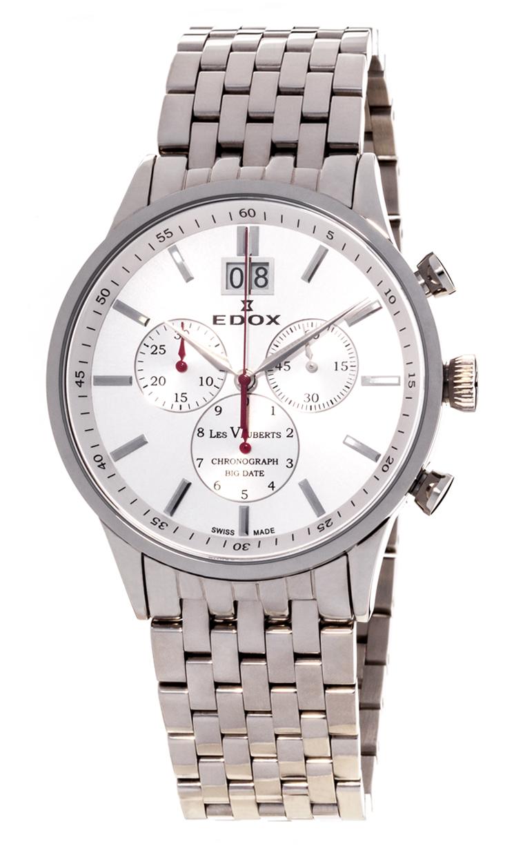 Часы Edox Les Vauberts Chronograph Big Date 10011 3 AIN