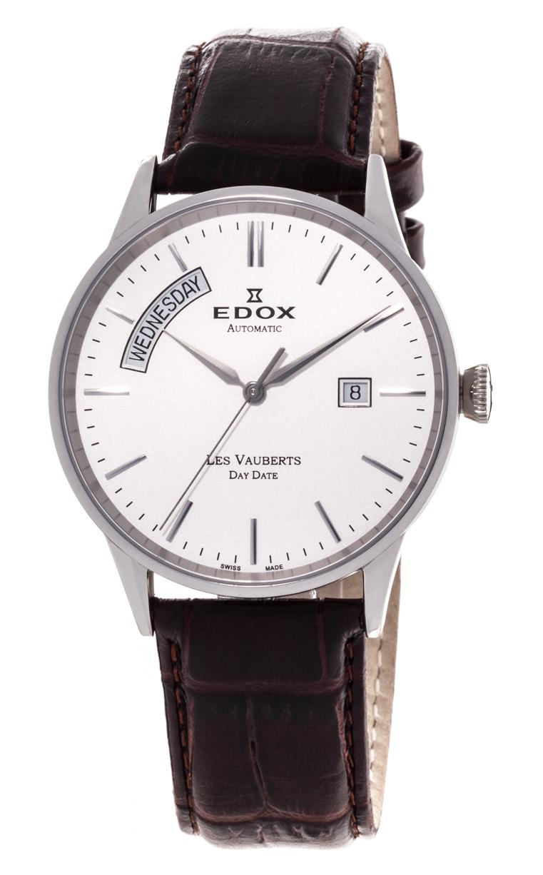 Часы Edox Les Vauberts Day Date Automatic 83007 3 AIN