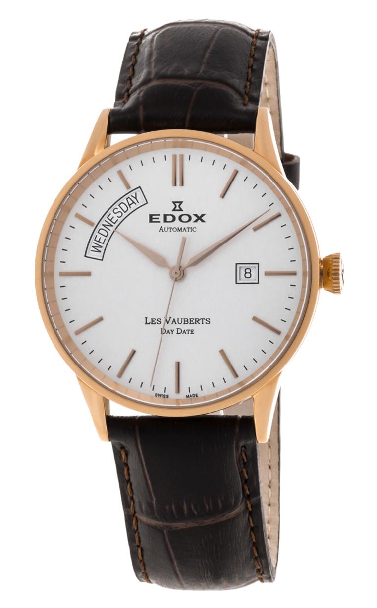 Часы Edox Les Vauberts Day Date Automatic 83007 37R AIR