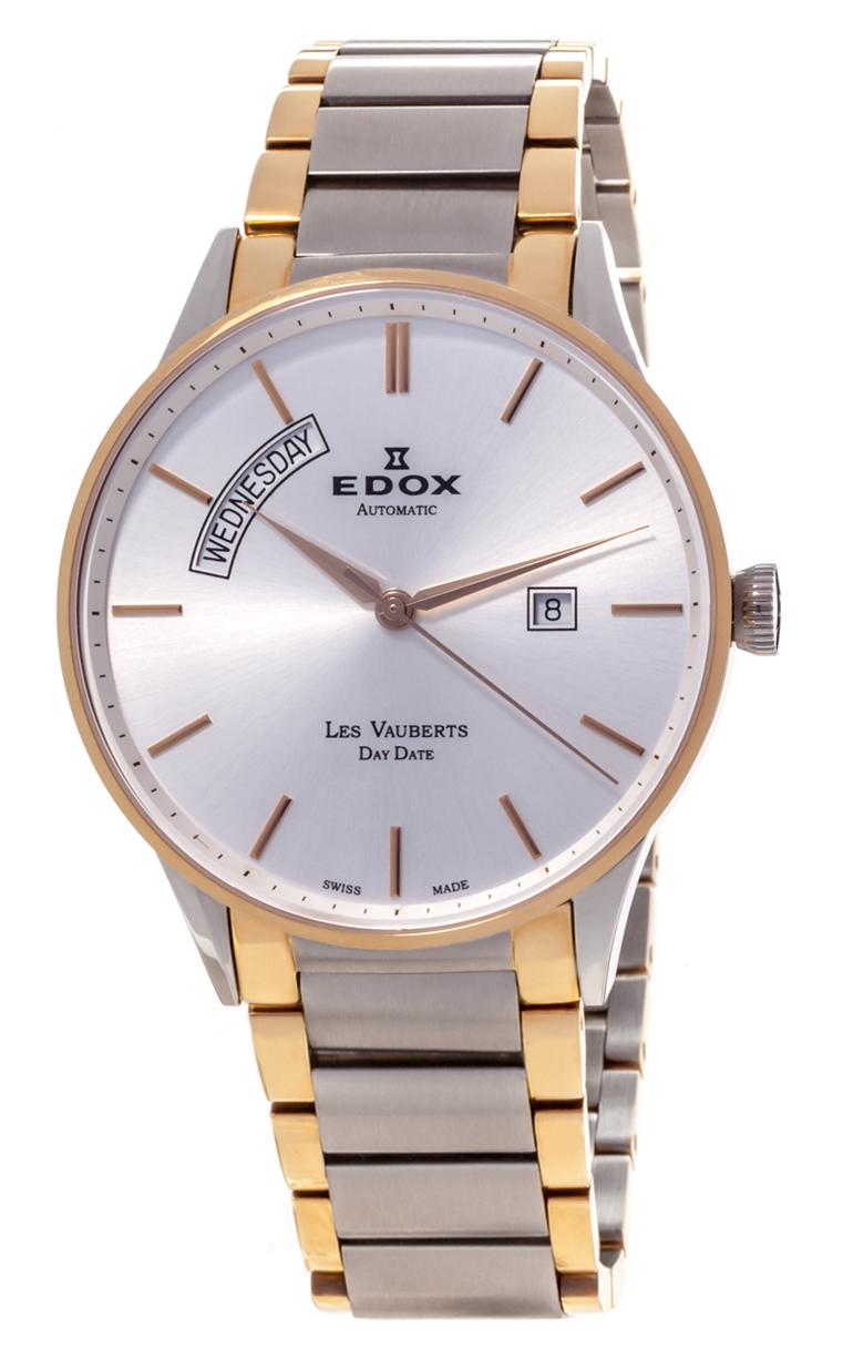 Часы Edox Les Vauberts Day Date Automatic 83011 357J AID