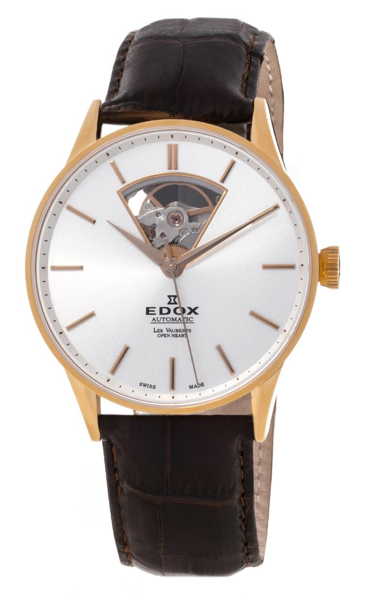 Часы Edox Les Vauberts Open Heart Automatic 85010 37J AID