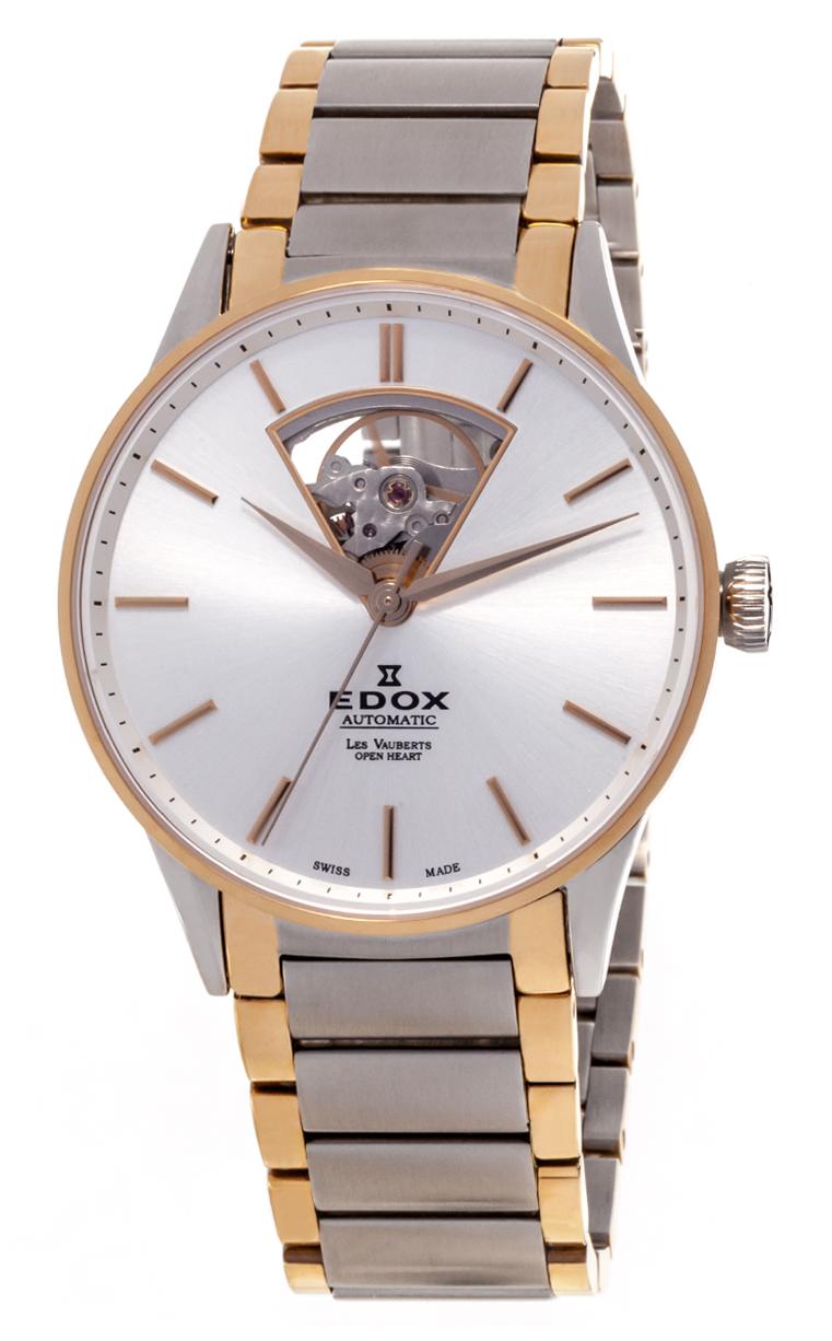 Часы Edox Les Vauberts Open Heart Automatic 85011 357J AID
