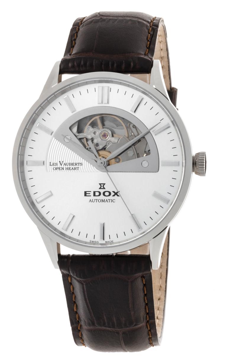 Часы Edox Les Vauberts Open Heart Automatic 85014 3 AIN
