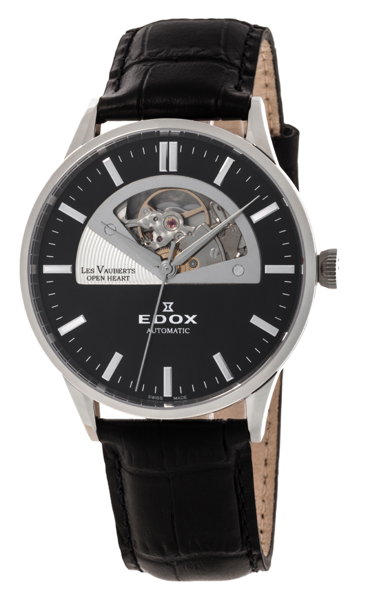 Часы Edox Les Vauberts Open Heart Automatic 85014 3 NIN