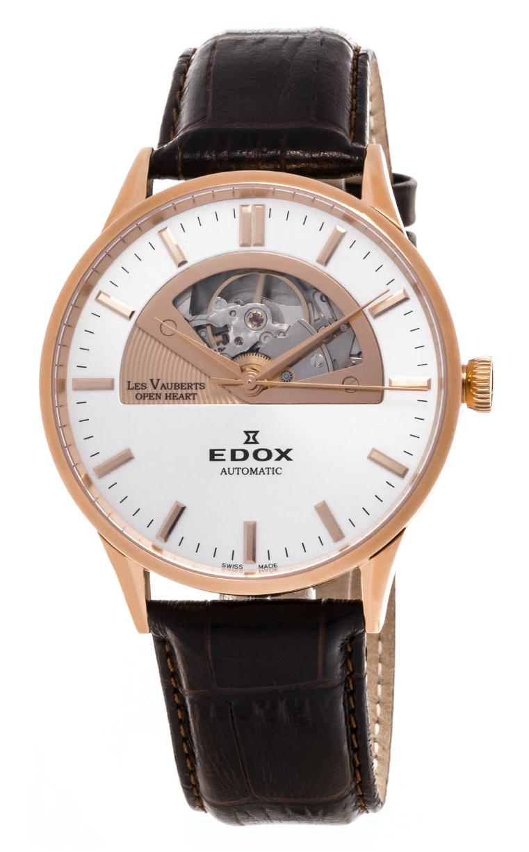 Часы Edox Les Vauberts Open Heart Automatic 85014 37R AIR