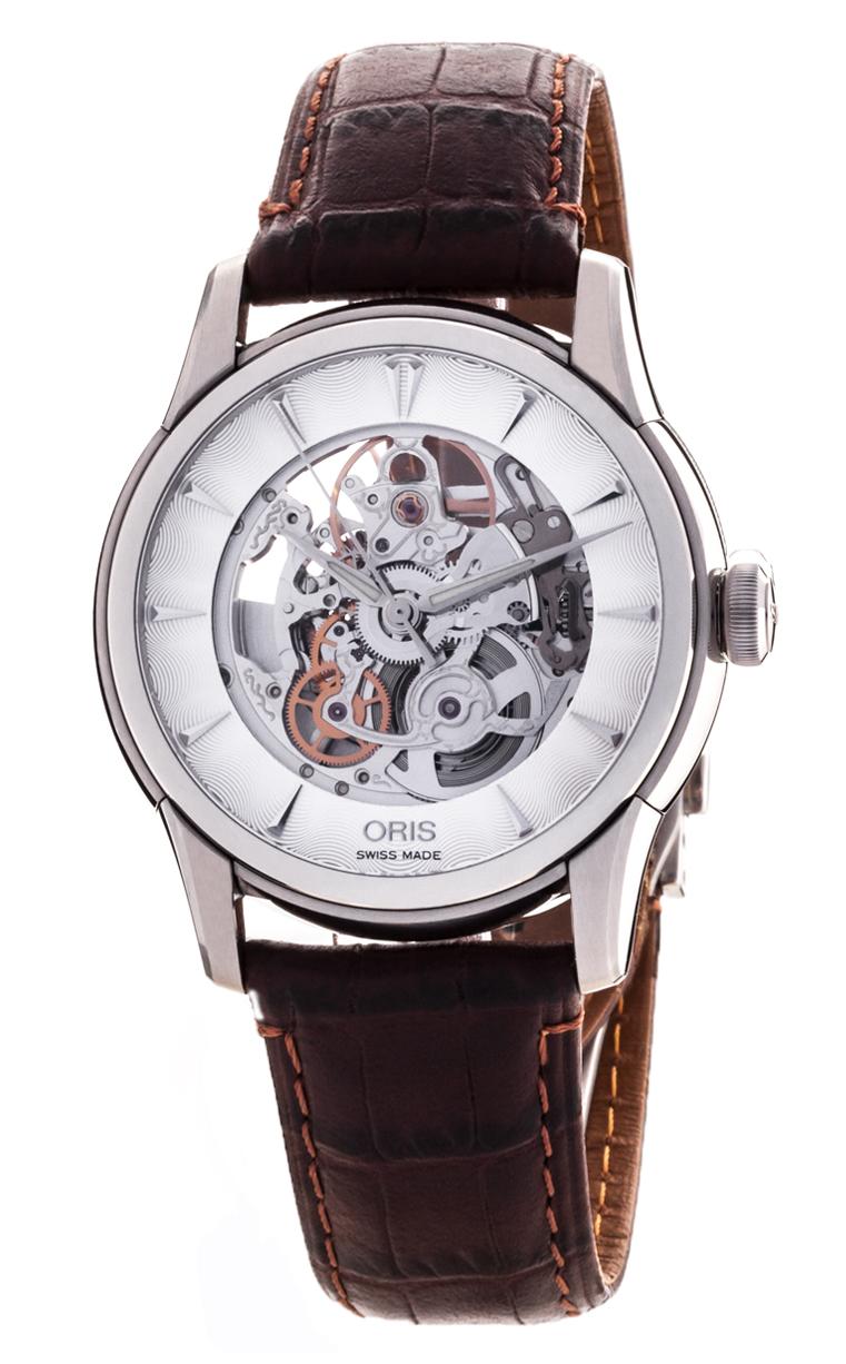 Часы Oris Artelier Skeleton 734 7591 4051 5 21 70FC