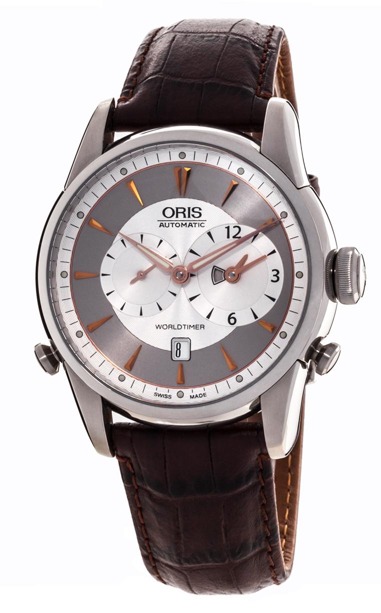 Часы Oris Artelier Worldtimer 690 7581 4051 5 22 70FC
