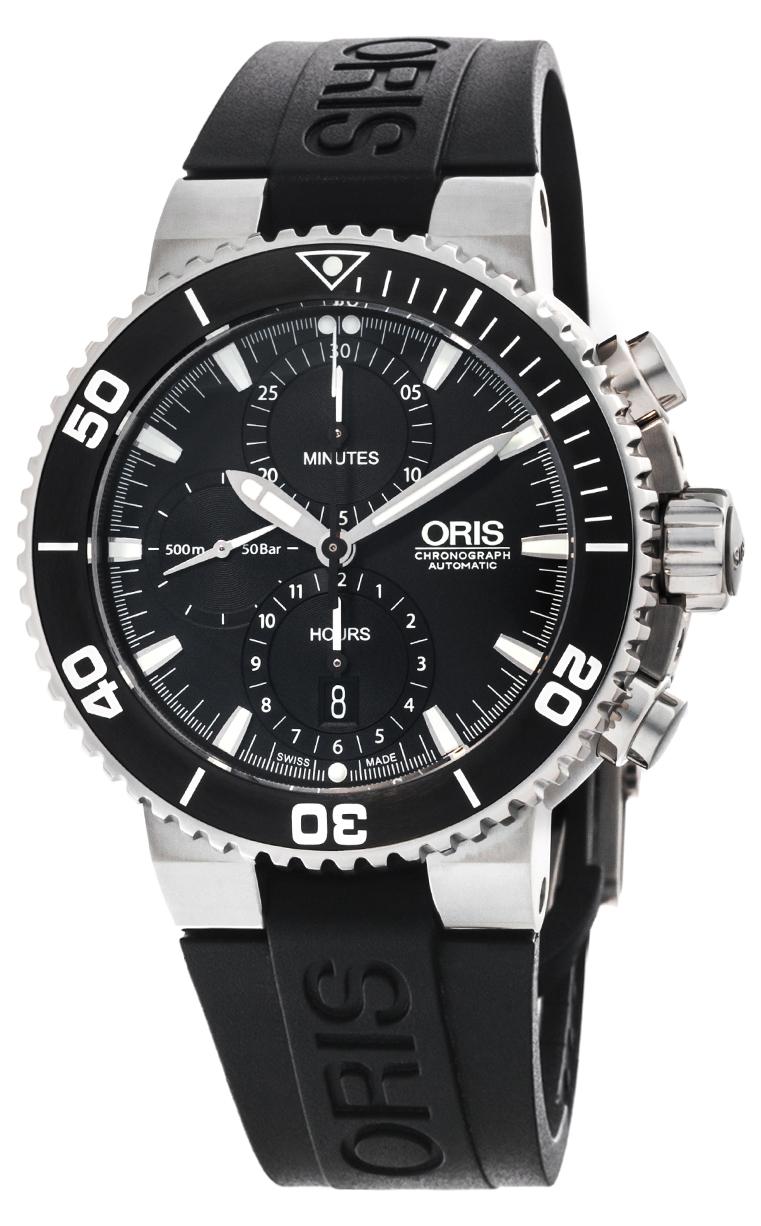 Часы Oris Aquis Chronograph 774 7655 4154 RS 4 26 34 EB