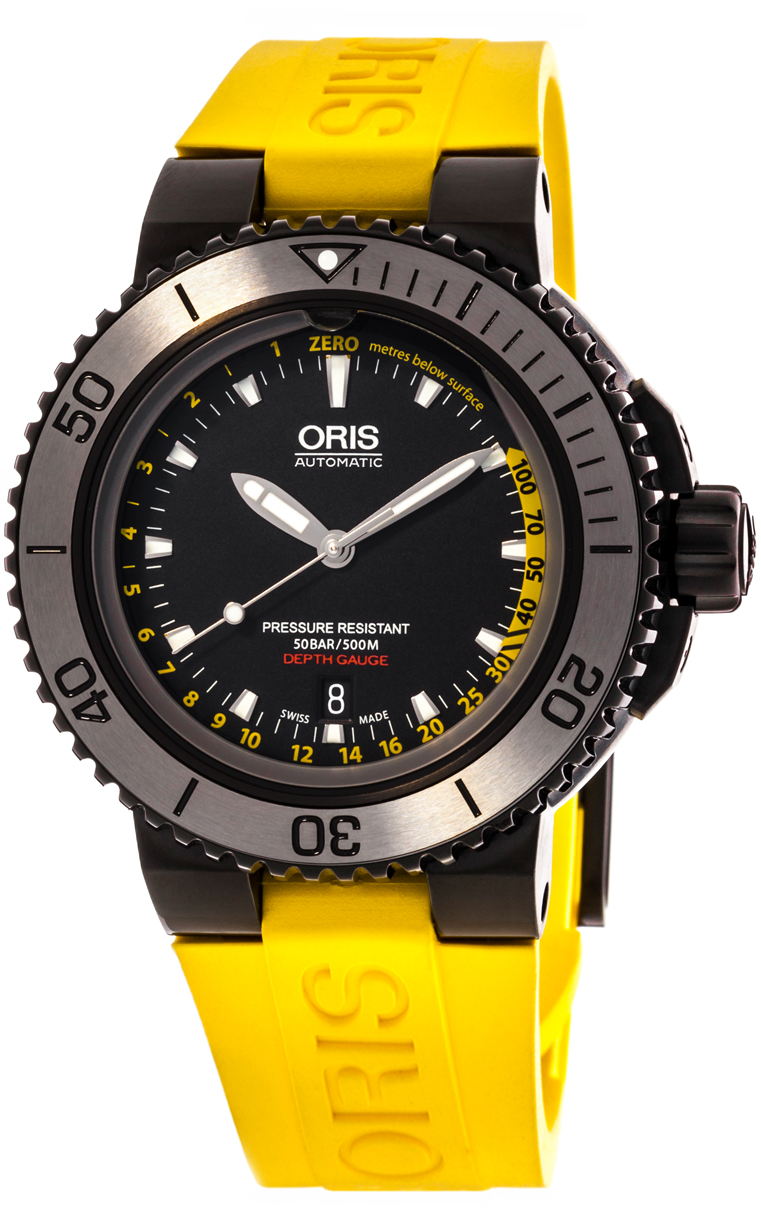 Часы Oris Aquis Depth Gauge 733 7675 4154 Set RS