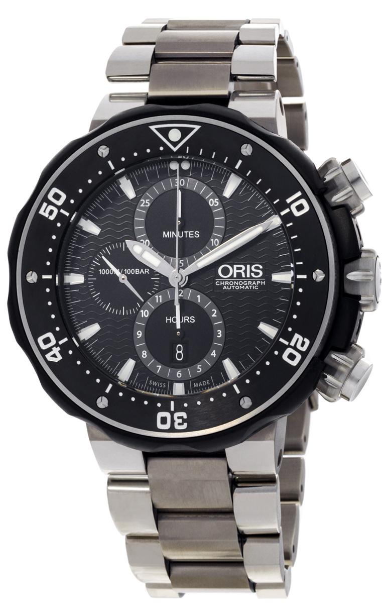 Oris ProDiver Chronograph 774 7683 7154 MB 8 26 75 PEB