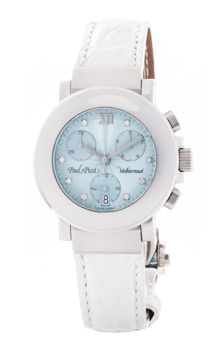 Часы Paul Picot Mediterranee Chronograph 36mm P4107.20.2D2CY051