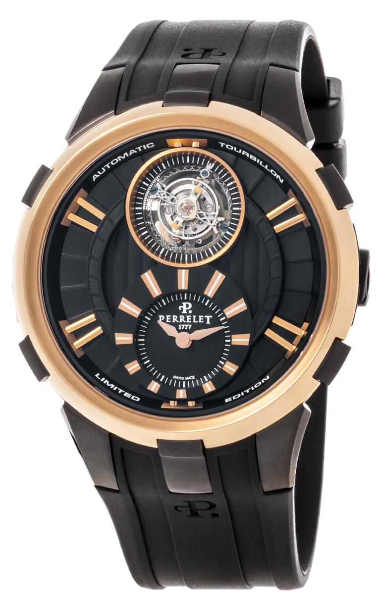 Часы Perrelet Tourbillon Black and Gold A3035/1