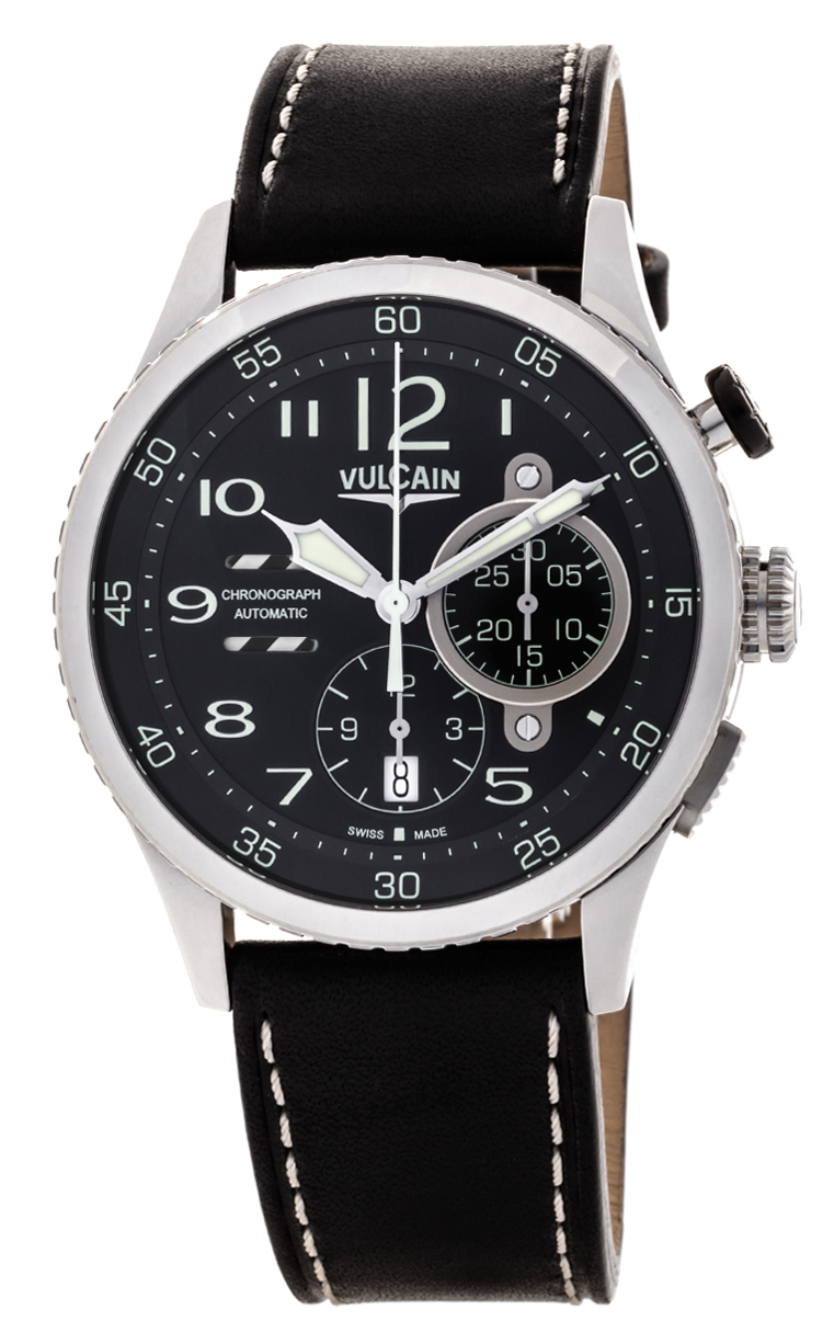 Часы Vulcain Aviator Instrument Chronograph 590263A07.BFC002