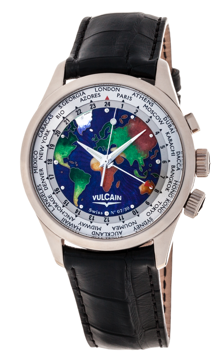 Часы Vulcain Cloisonne The World L.E. 100308.128L