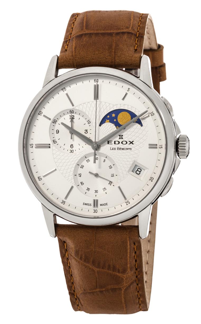 Часы Edox Les Bemonts Chronograph Moon Phase 01651 3 AIN 44 mm