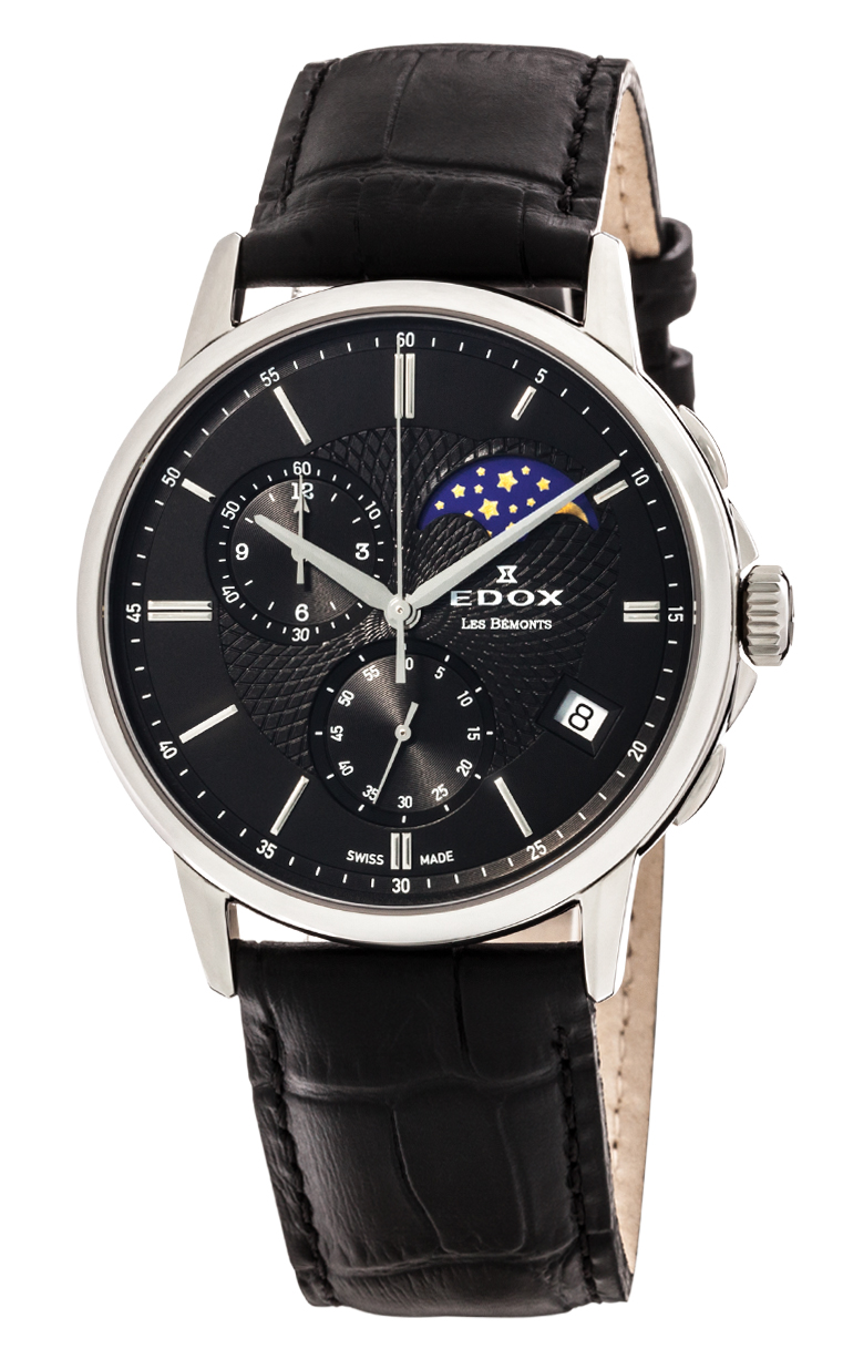 Часы Edox Les Bemonts Chronograph Moon Phase 01651 3 NIN